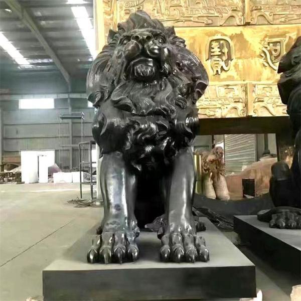 铸造铜雕狮子 铜狮子雕塑 故宫铜狮子