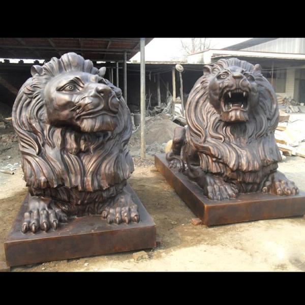 做旧铜狮子 欧式铜狮子 镇宅铜狮子