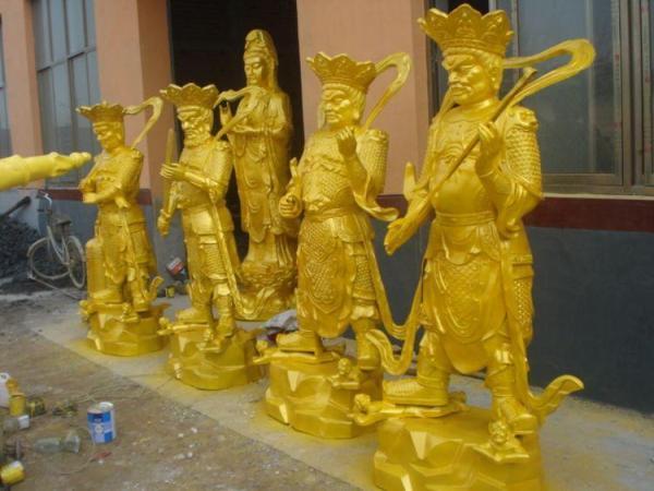 3.8米高四大天王铜雕 铸造四大天王铜雕摆件