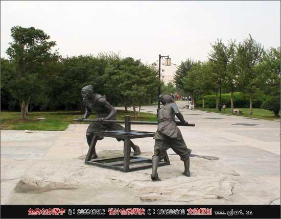 贴金人物雕塑 景观人物雕塑 现代人物雕塑