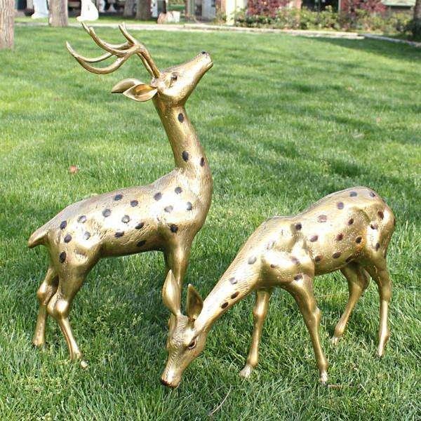 铸造厂铜鹿 母子铜鹿 批发铜鹿