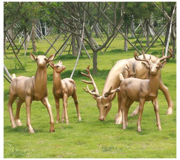 加工铜雕鹿 铜雕鹿铸造 室外铜鹿
