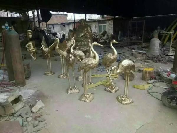 景区铜鹤 铜鹤摆件 大型铜鹤