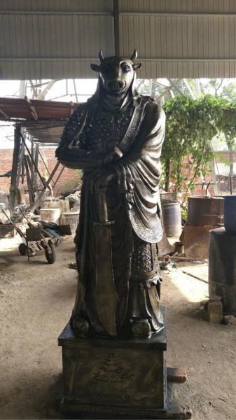 广场十二生肖雕塑 青铜十二生肖雕塑