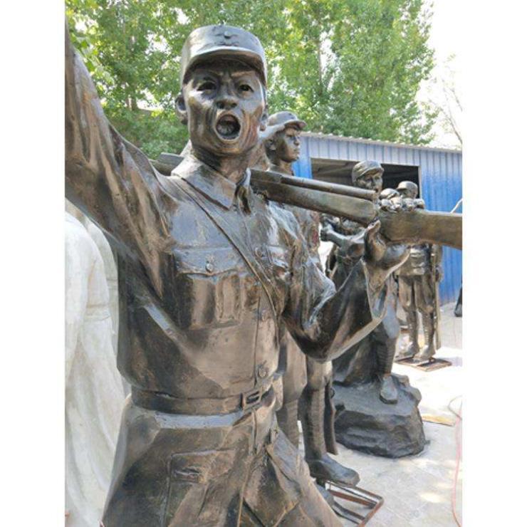 红色军人雕塑 军人雕塑厂家 青铜军人雕塑