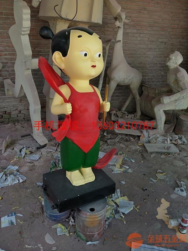玻璃钢红孩儿雕塑 西游记人物雕塑