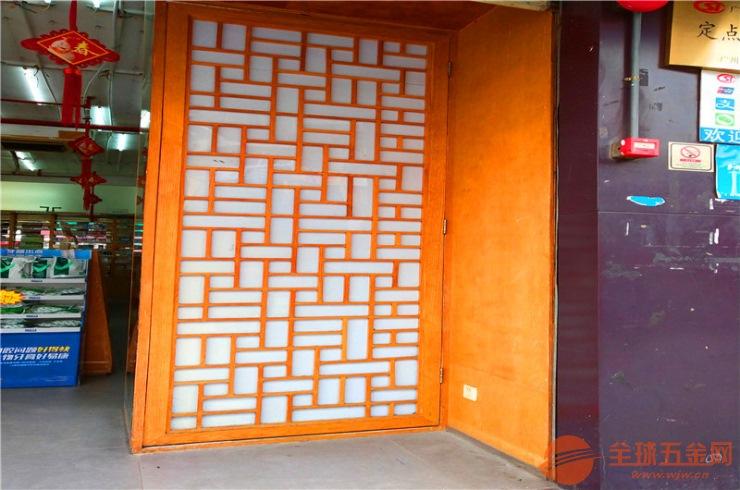 门头隔断仿木纹铝窗花 KTV室内幕墙隔断氟碳铝窗花