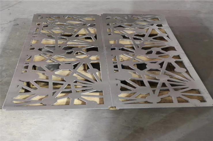仿古木纹铝通花隔断 现代中式氟碳铝通花供应厂家