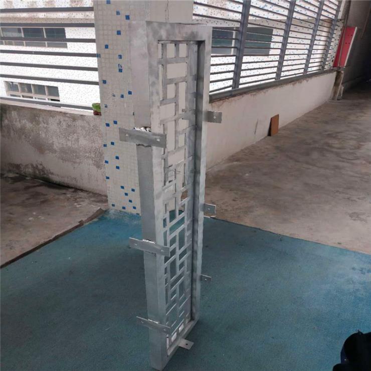 外框铝管焊接铝通花 内框铝板雕刻铝通花【定制厂家】