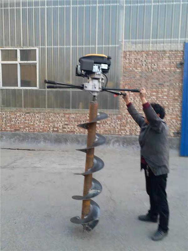 装载机带挖坑机 铲车改装电杆打洞机植树钻窝机
