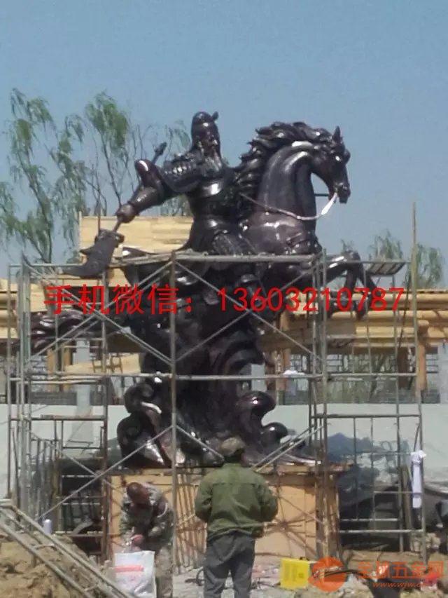 铜关公骑马铜雕塑制作厂家