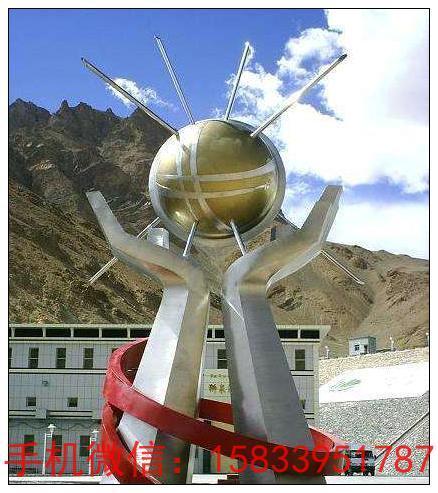 科技之光不锈钢景观雕塑 企业大型不锈钢雕塑