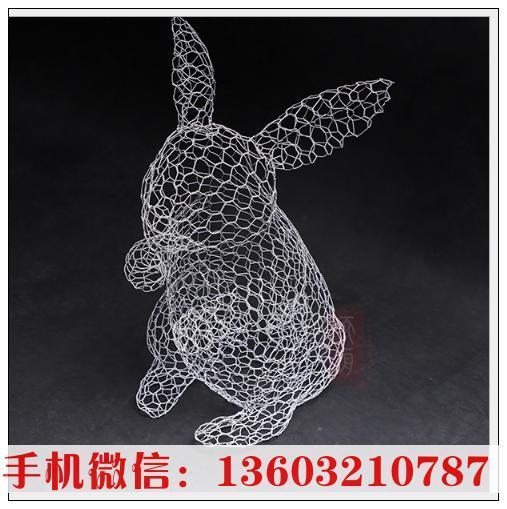 工厂直销 定制铁艺金属兔子摆件