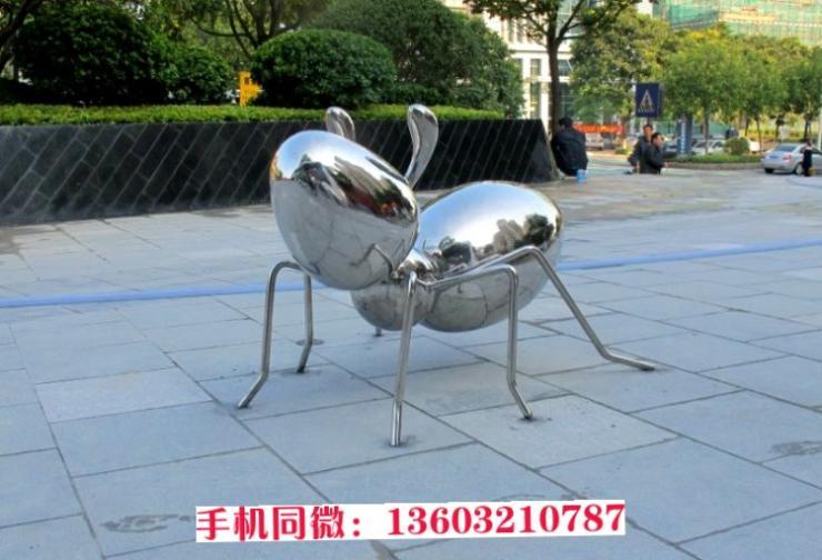 不锈钢镜面蚂蚁雕塑 不锈钢蚂蚁雕塑 公园不锈钢雕塑