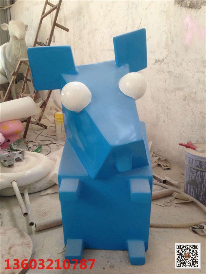 户外玻璃钢创意几何动物雕塑 神匠雕塑厂家直销