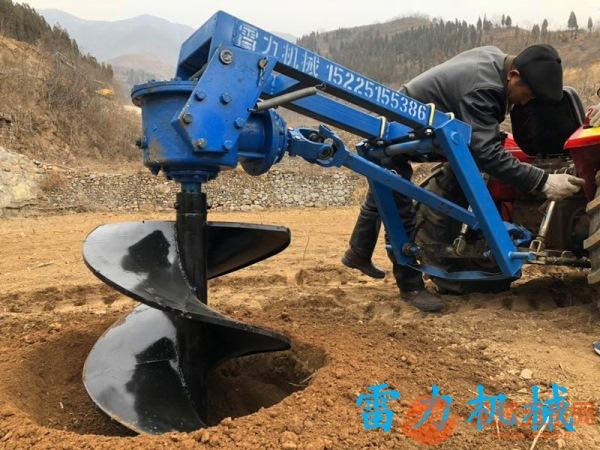 附着性好拉力大的拖拉机挖坑机维修事项