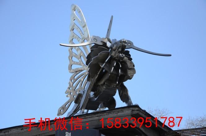 不锈钢拉丝蝴蝶雕塑 企业蝴蝶不锈钢雕塑