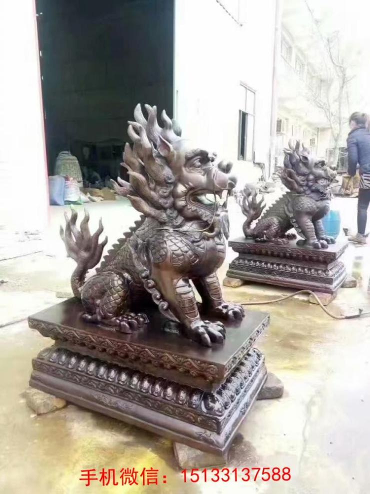 做饭人物铜雕塑
