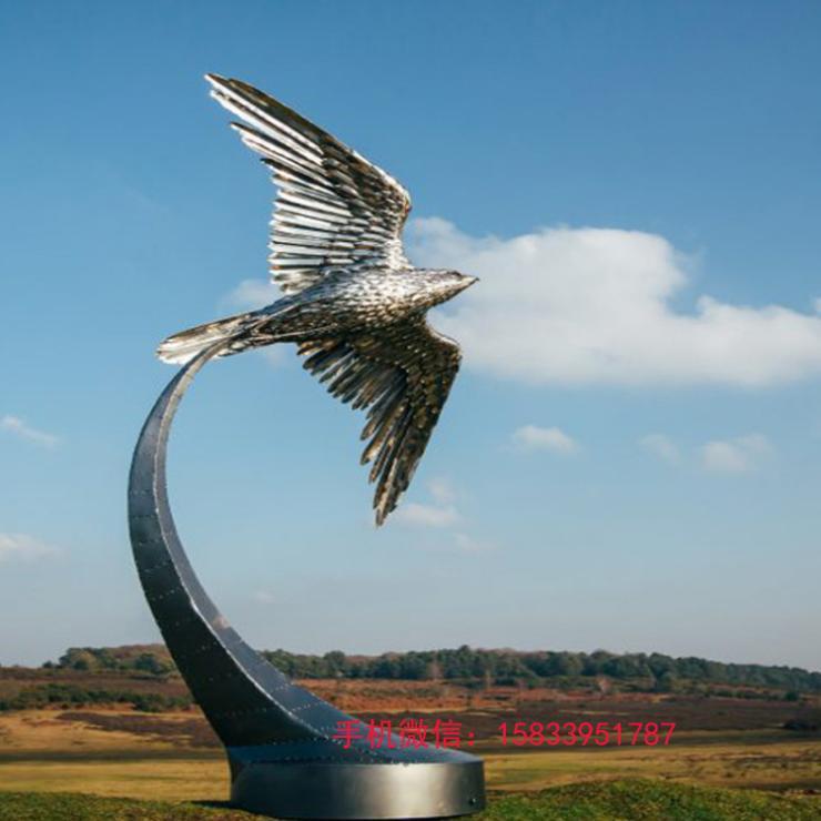 不锈钢雄鹰翱翔雕塑 不锈钢雄鹰雕塑
