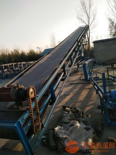 各种型号水泥砂石传送机 倾斜带式爬坡输送机设备