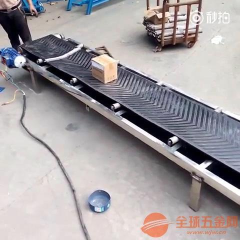 供应PVC皮带式输送机铝型材框架不锈钢防腐美观上料机
