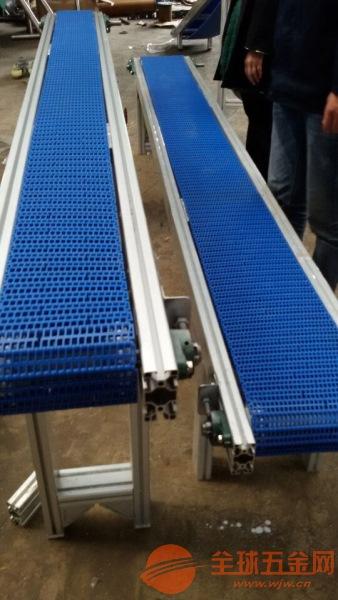 防静电铝型材皮带流水线变频调速式水平式传送机