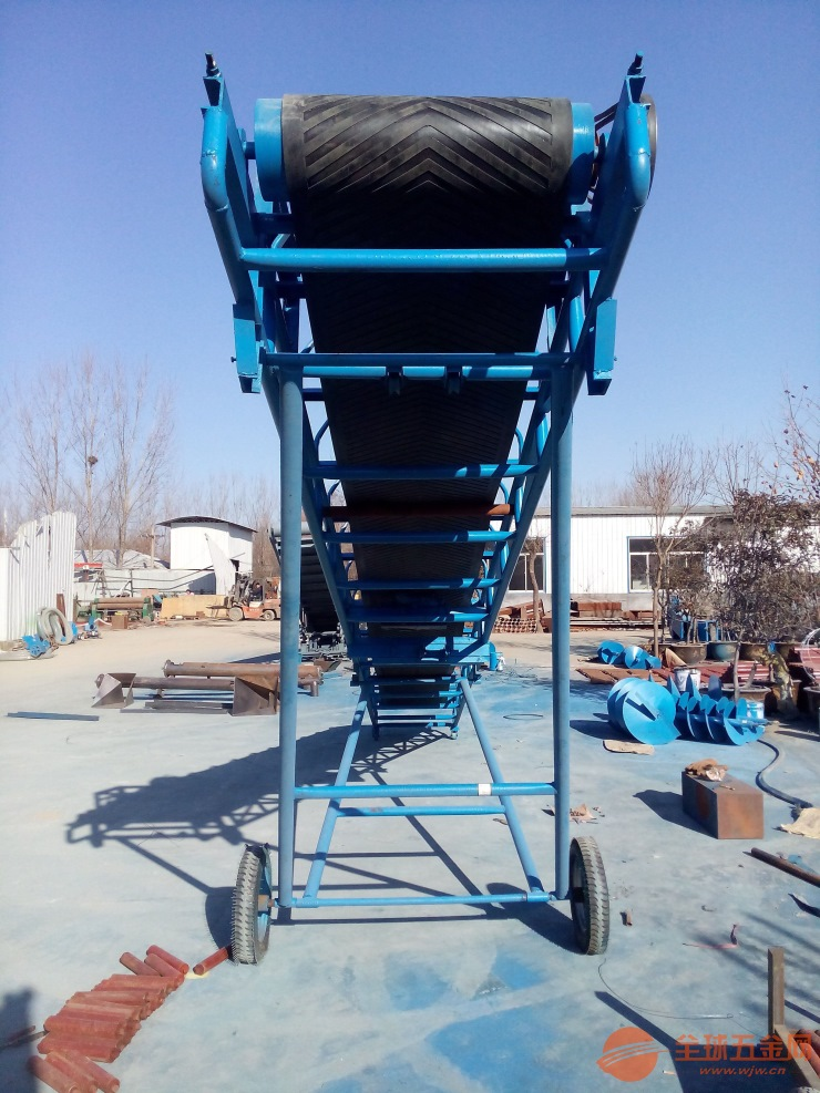 粮食运输装车斜坡输送机 自动升降调速爬坡传送带