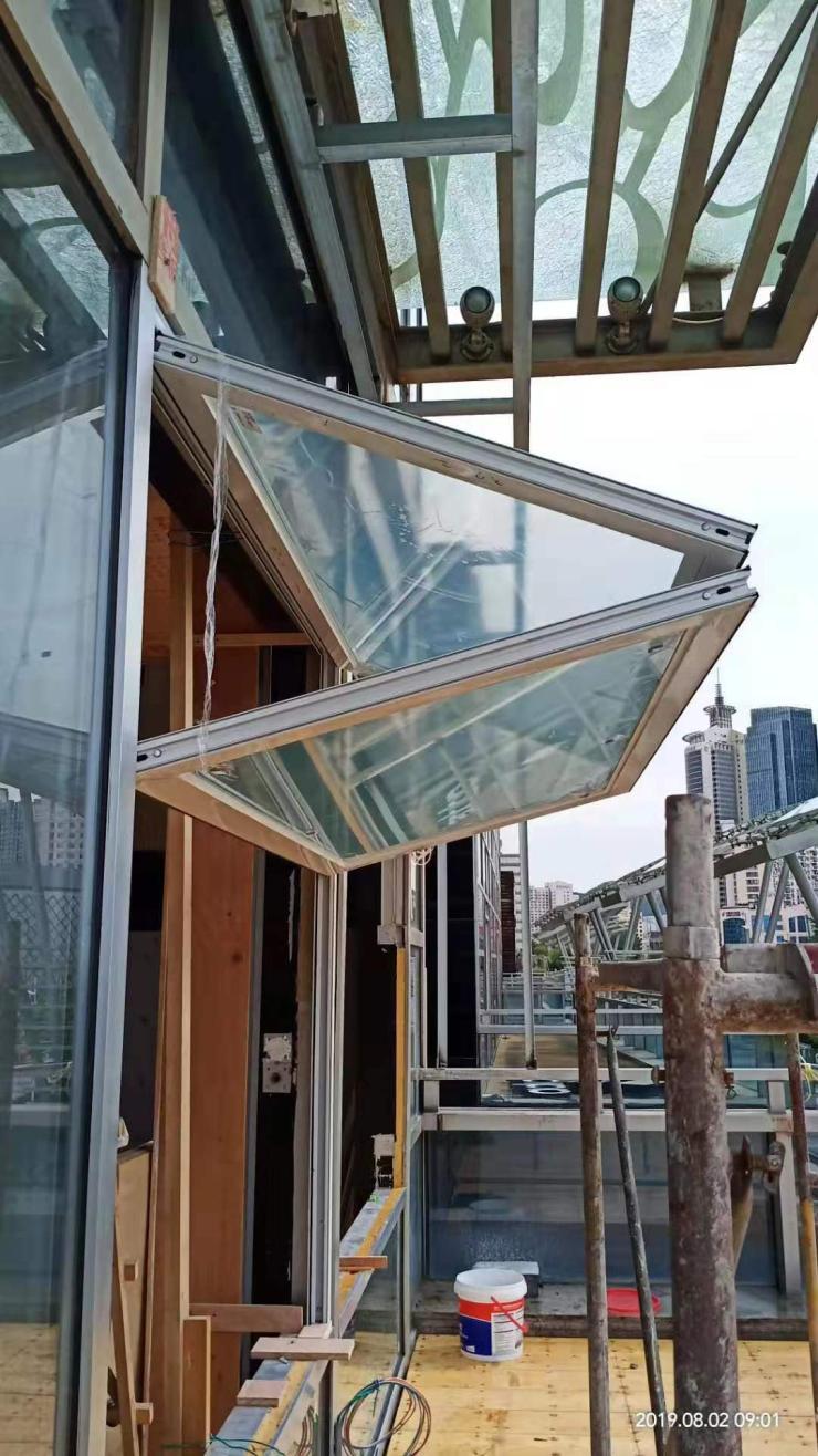 商铺上下折叠窗 金玛龙折叠窗