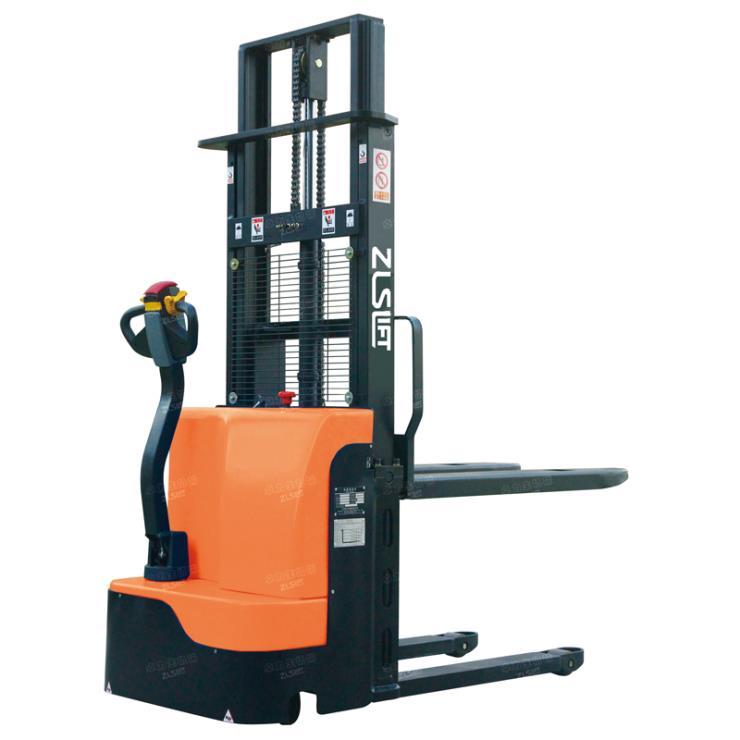 卓力生載重500公斤步行式半電動堆高車|深圳電動升高車裝卸車