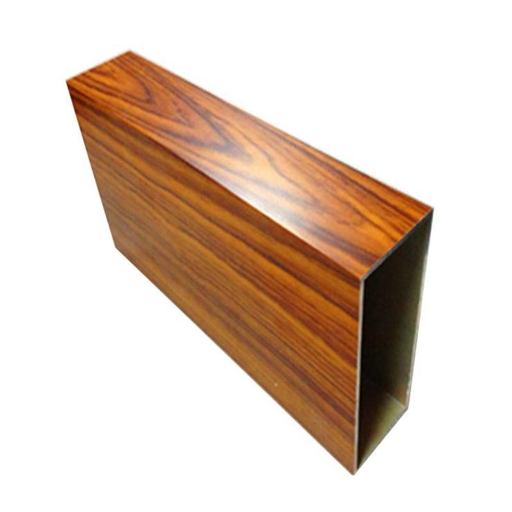 按一平方价格广东厂家直销垂直水平安装仿木纹铝方通格珊