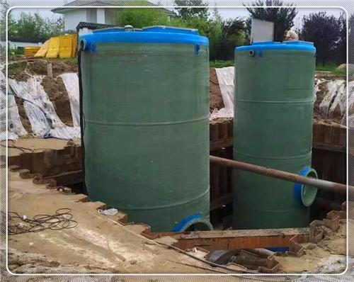 定興縣玻璃鋼一體化污水泵站耐酸堿泵站