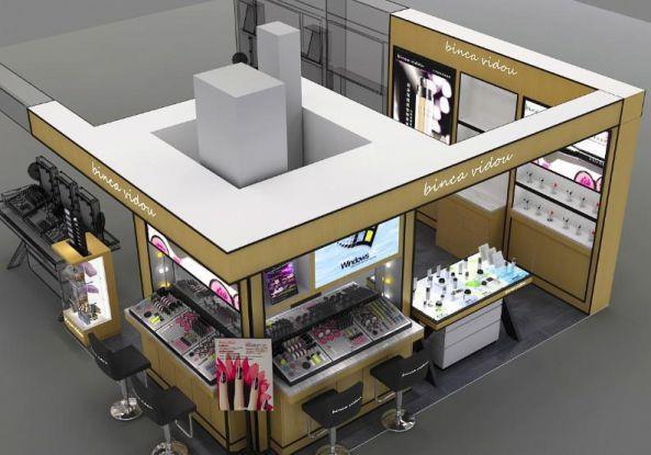济南护肤品展柜制作彩妆柜台制作厂家化妆品展柜定制工厂