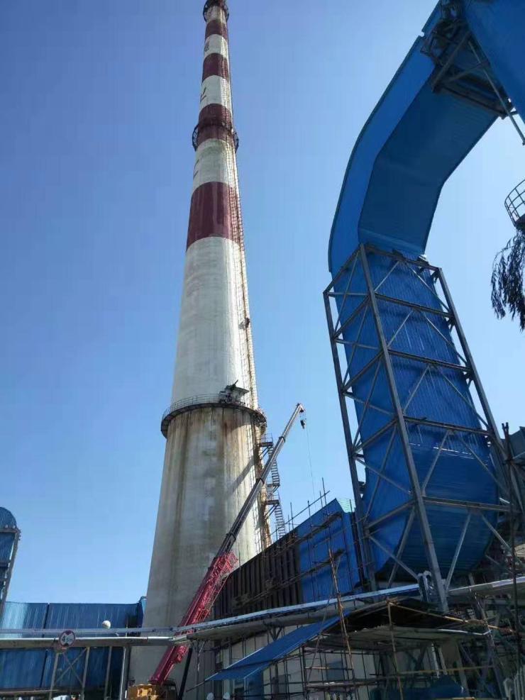 林口60米水泥煙囪刷航標華超公司