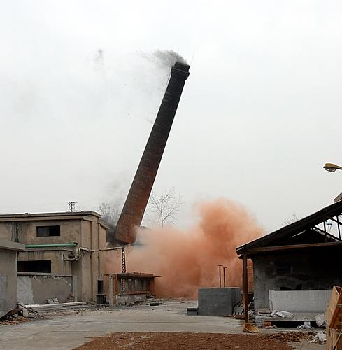 呼玛县混泥土烟囱拆除施工队