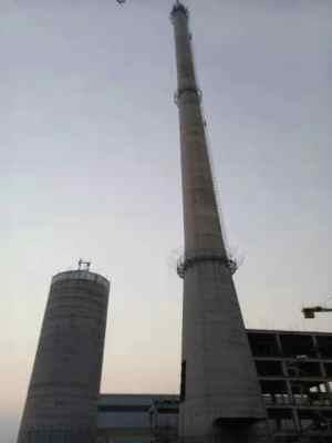 明山区55米砖烟囱粉刷 价格合理