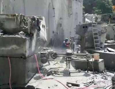 东港锅炉烟囱人工拆除施工公司施工公司