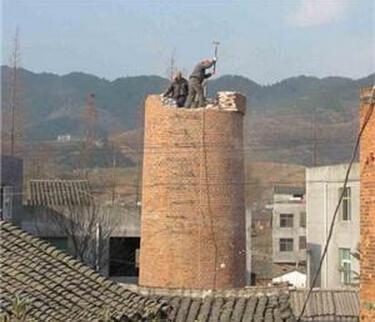 黑山县55米砖烟囱粉刷