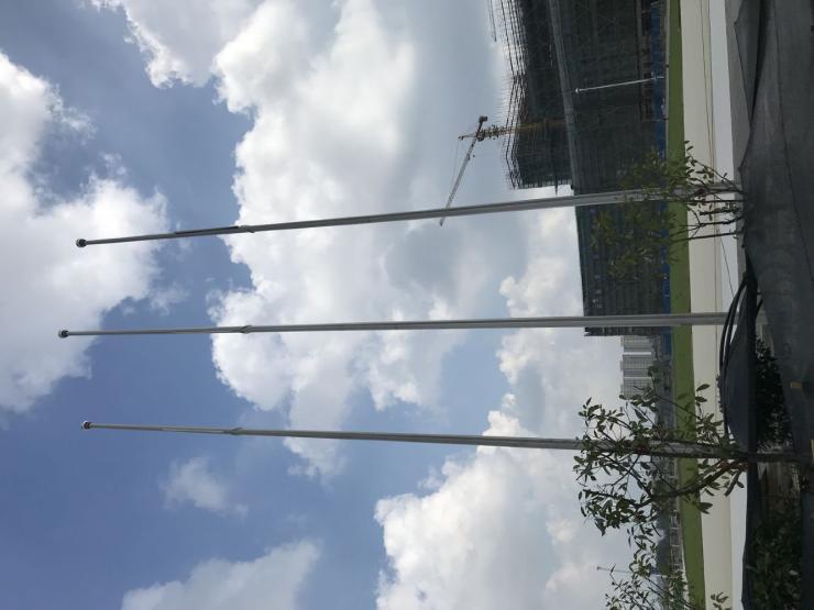 镇江厂矿铝合金旗杆旗杆在生锈的情况下如何解决?