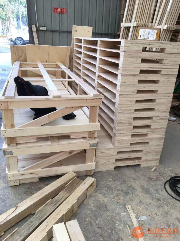 上海出口玻璃制品包装木箱,木托盘