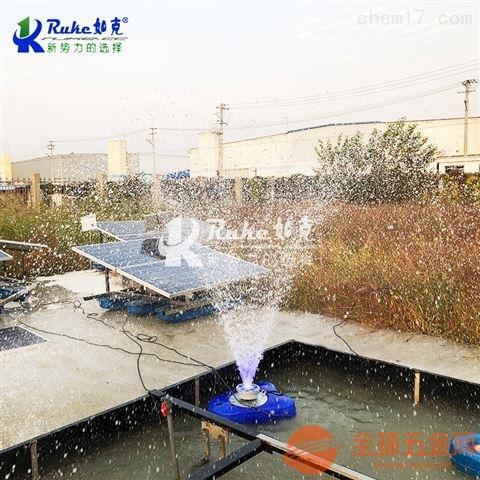 如克供应太阳能喷泉曝气机养殖业增氧设备水体治理曝气机