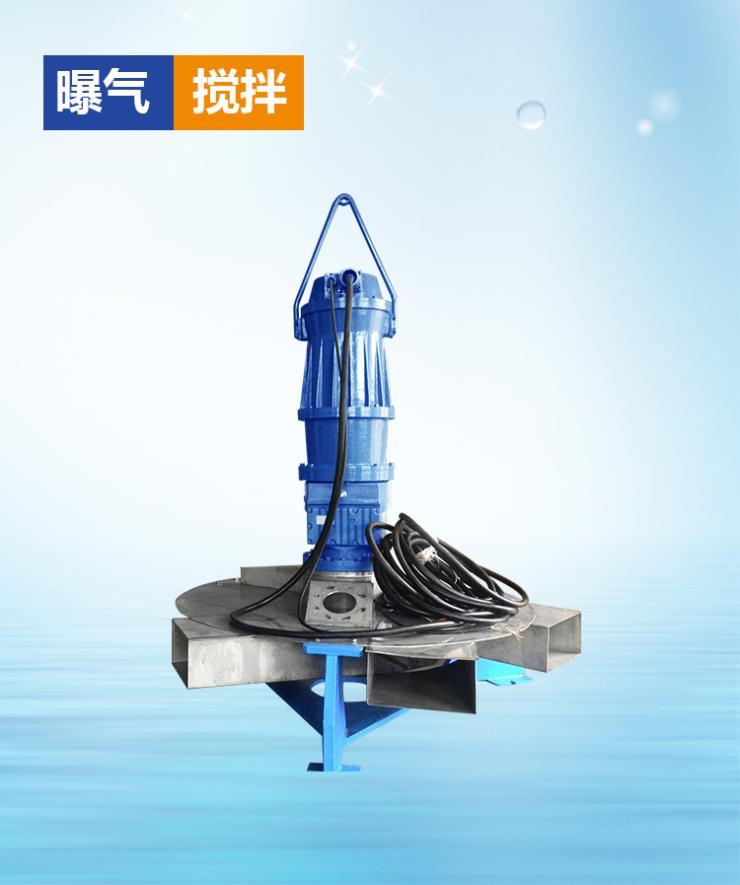 深水曝气搅拌两用机污水处理设备