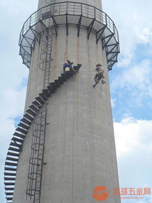 北京烟囱旋转梯及平台安装施工