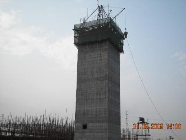新建混凝土方形烟囱
