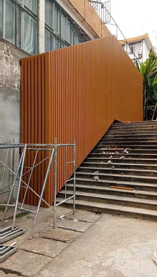 南平墻身弧形鋁方通吊頂來圖為您定做