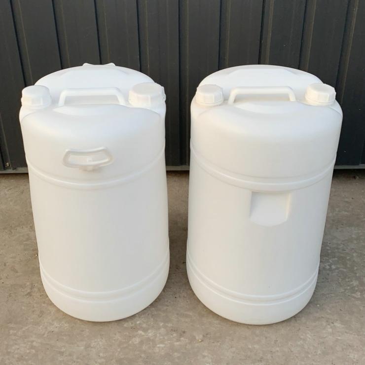 新利60升塑料桶 双口60L塑料桶 带提手包装桶