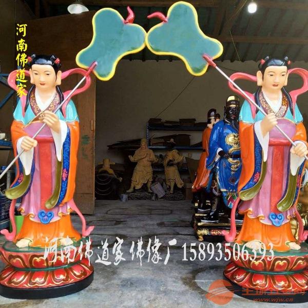 1.3米侍女娘娘左右宫女 树脂玻璃钢彩绘佛像寺庙