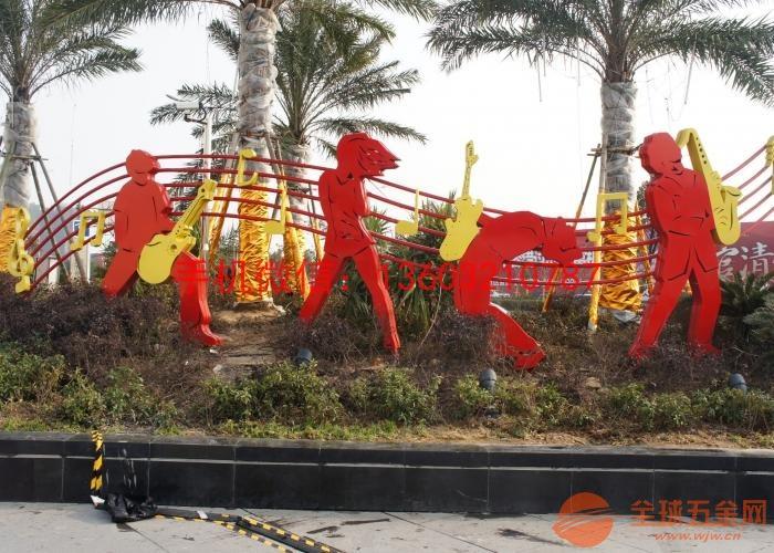 不锈钢乐团雕塑 不锈钢公园雕塑