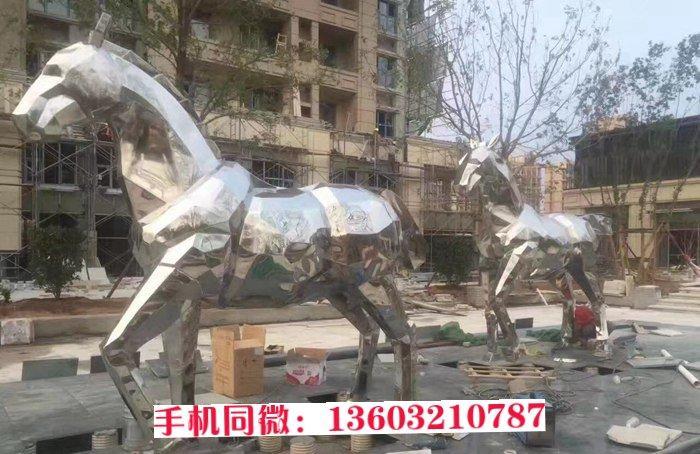动物雕塑定做 不锈钢切面马雕塑 定制厂家