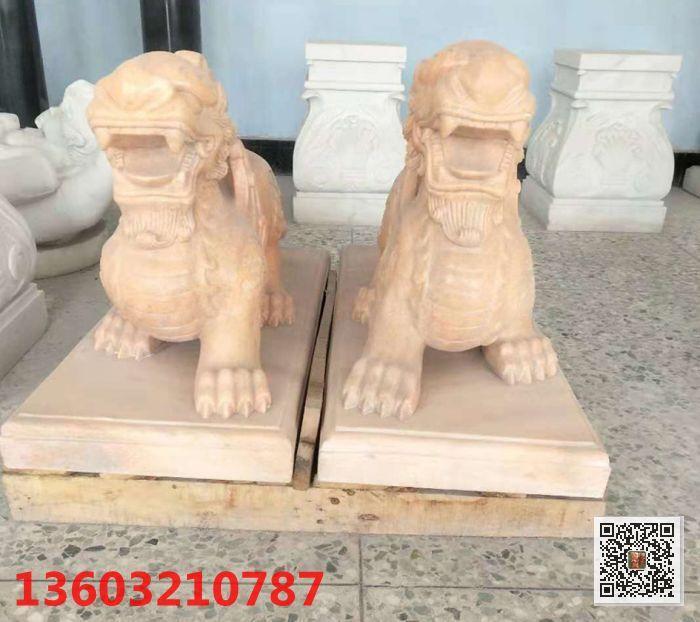 石雕貔貅 润龙石雕工艺精湛质量可靠