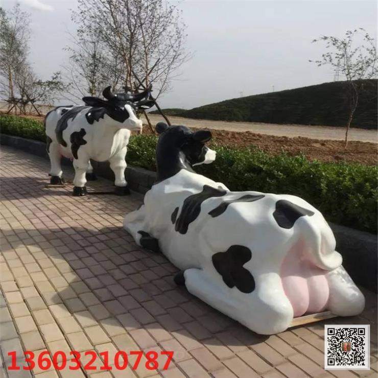 广州玻璃钢牛雕塑 润龙玻璃钢雕塑厂家